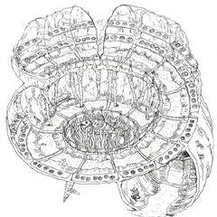 Concept art of spiral room.