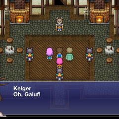 Kelger's house at Quelb.