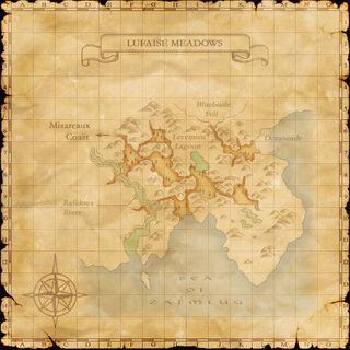 A map of Lufaise Meadows.