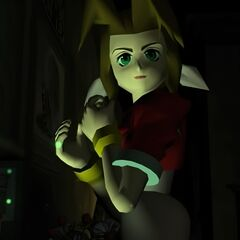Aerith in the opening FMV in <i>Final Fantasy VII</i>.