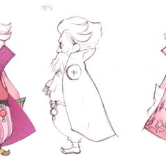 Akira Oguro concept art of Tellah (DS).