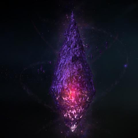 A dark crystal, possibly Zodiark's true form.