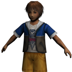 Kid Tidus render.