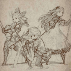 Tiz, Agnès, and Edea.