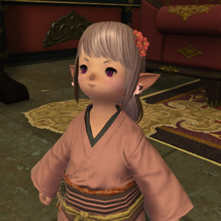 Tataru in a yukata, <i>Stormblood</i>.
