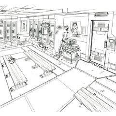 Changing room concept art.