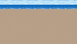 FFIV Battle Background Beach SNES