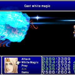Crystal in-game (PSP).