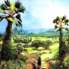 Concept Artwork of the Tchita Uplands.