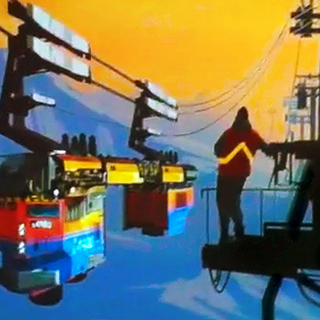 Concept art for EXINERIS Industries ropeway.