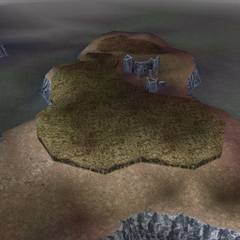 The ruins of the Chaos Shrine in World B in <i>Dissidia 012 Final Fantasy</i>.