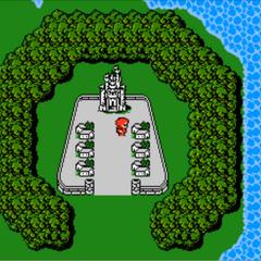 Cornelia in the World Map (NES).