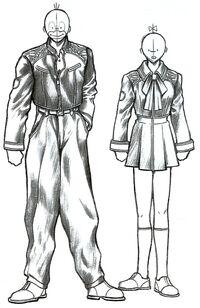 Balamb Garden Uniform Sketch