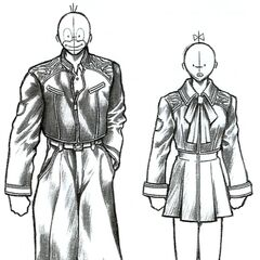Sketch of the cadet uniform.