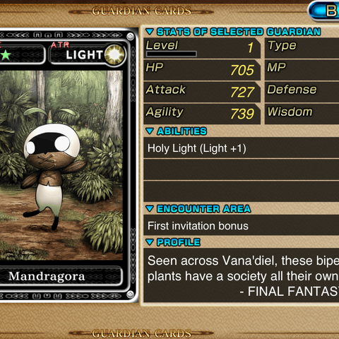 Full version of Mandragora card.