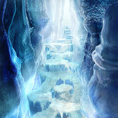 CG concept artwork of the Ice Cavern.