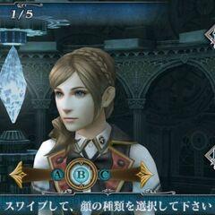 Creating a cadet in <i>Final Fantasy Agito</i>.