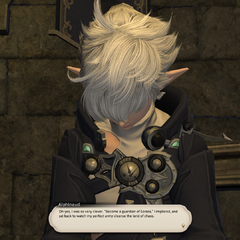 Alphinaud blames himself for getting fooled by Teledji.