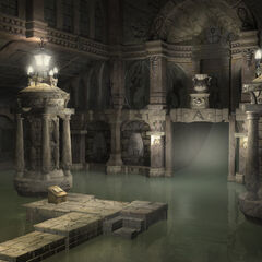 CG artwork for Alexandria Castle's Neptune room by Jake Rowell.