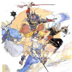 Yoshitaka Amano artwork of Kelger, alongside the other <a href=