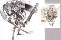 Imagen conceptual de como sería Gilgamesh en Final Fantasy XIII como fal'Cie.