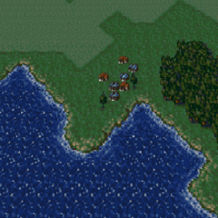 South Figaro on the World Map in the World of Balance (SNES).