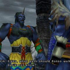 Garik talks with Kimahri.