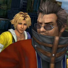 Tidus and Auron in Luca.