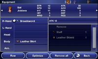 FFD Equipment Menu