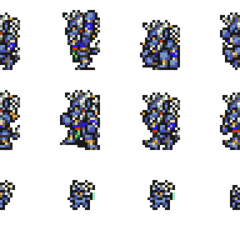 Set of Kimahri's sprites.