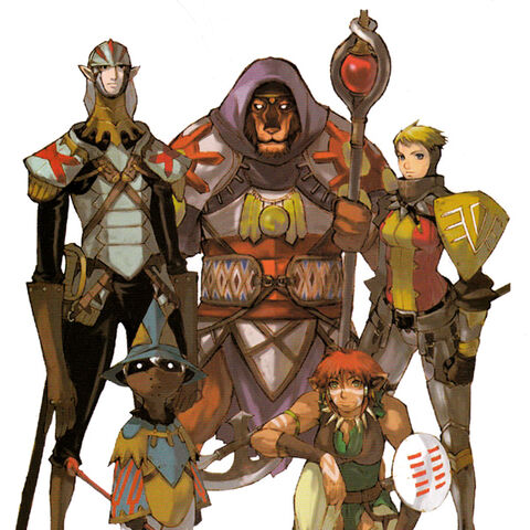 Original concepts of the five playable races.