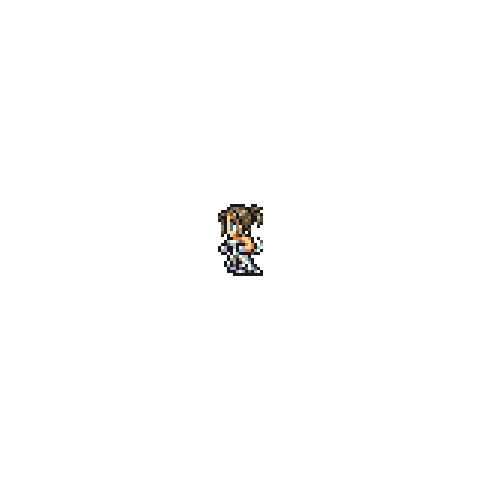 Sprite of Yuna's wedding dress.