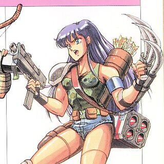 <i>The Final Fantasy Legend</i> Human Female Artwork.