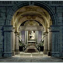 Concept artwork of the entrance.