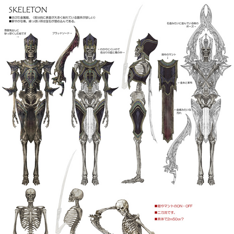 Concept art of the Skeleton.