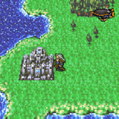 Doma Castle on the World of Balance map (GBA).