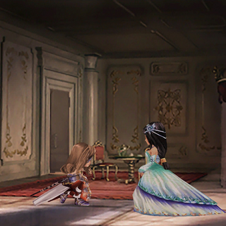 Beatrix kneels in front of Garnet.