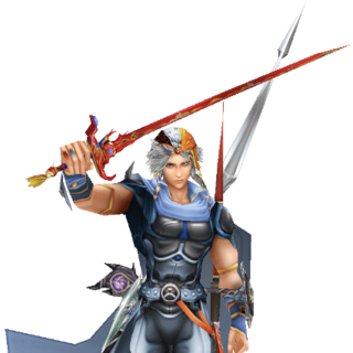 In-game render of Firion in <i>Dissidia Final Fantasy</i>.