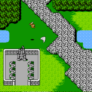 The Wyvern on the world map (NES).