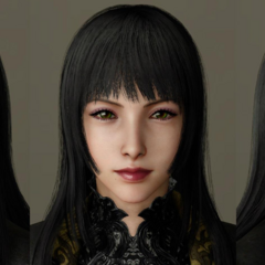 Facial model.