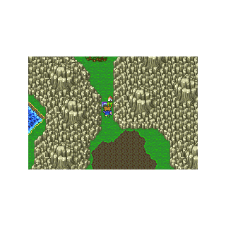 Quelb on the World Map in Galuf's World (GBA).
