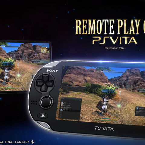 Sony's advertisement for the Remote Play feature allowing <i>Final Fantasy XIV: A Realm Reborn</i> to be played on the PS Vita.