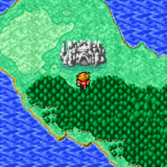 Chaos Shrine on the World Map (GBA).
