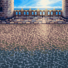 Battle background (Roof and front gate) (GBA).