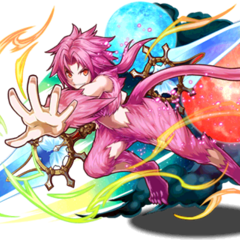 Artwork of Trance Zidane wielding the Ultima Weapon for <i>Puzzle &amp; Dragons</i>.