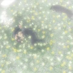 Fenrir guards Tifa and Cloud in <i>Final Fantasy VII: Advent Children</i>.