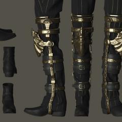 Regis's boots and brace.