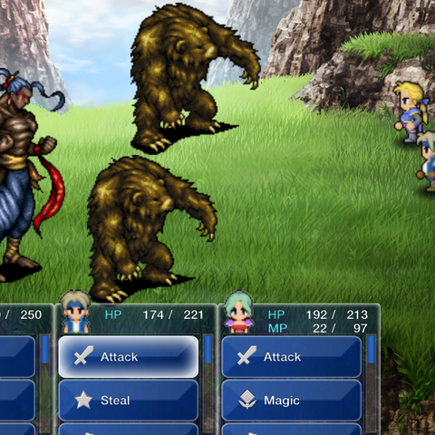 Ipoohs accompanying Vargas in battle (iOS/Android).