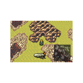 The cave on the world map (GBA).