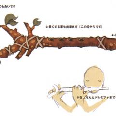 Concept artwork for the Fairy Flute.